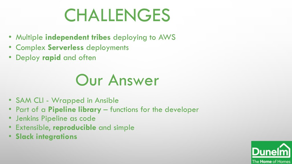 CHALLENGES • Multiple independent tribes deploy...