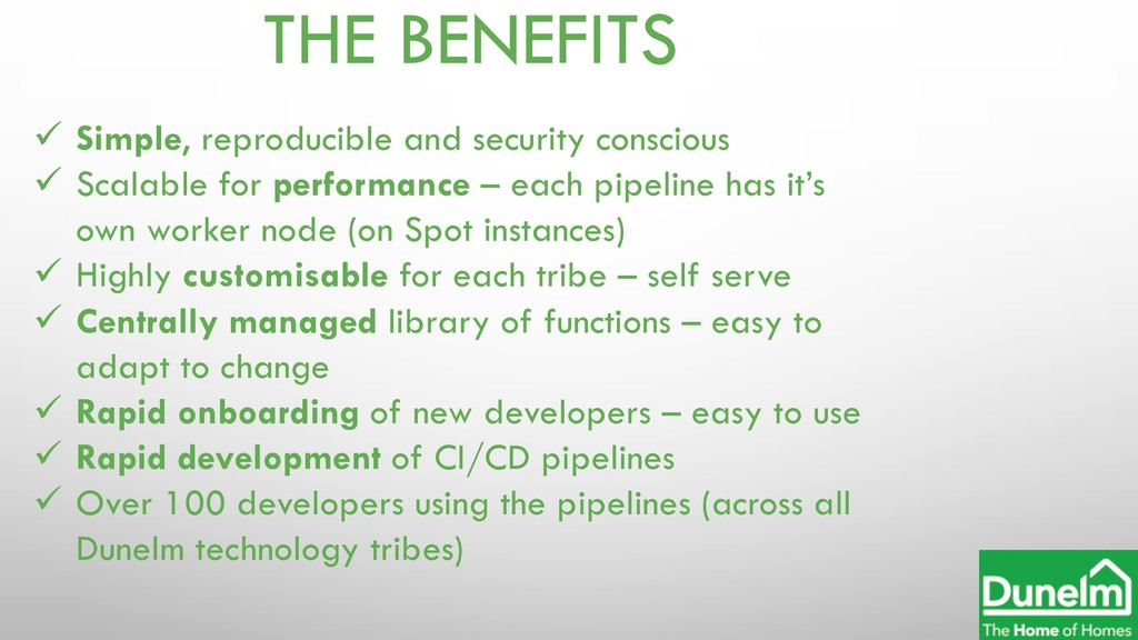 THE BENEFITS ü Simple, reproducible and securit...