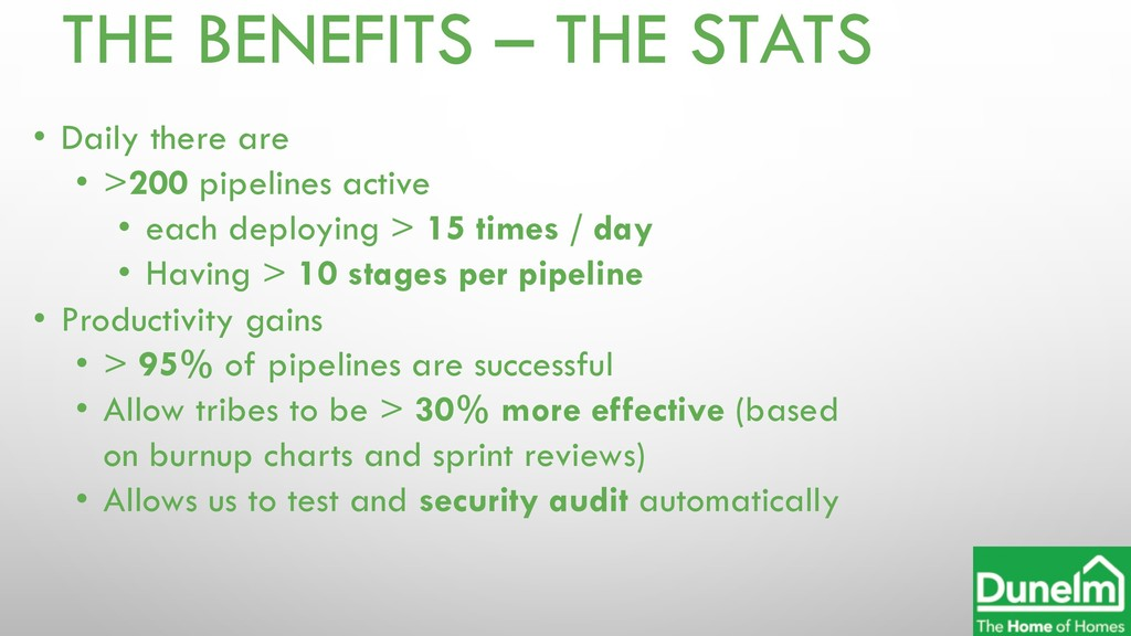 THE BENEFITS – THE STATS • Daily there are • >2...