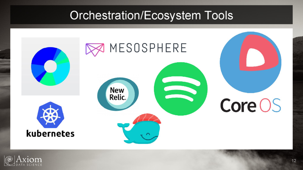 Orchestration/Ecosystem Tools 12