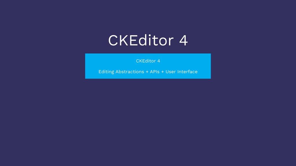 CKEditor 4 CKEditor 4 Editing Abstractions + AP...