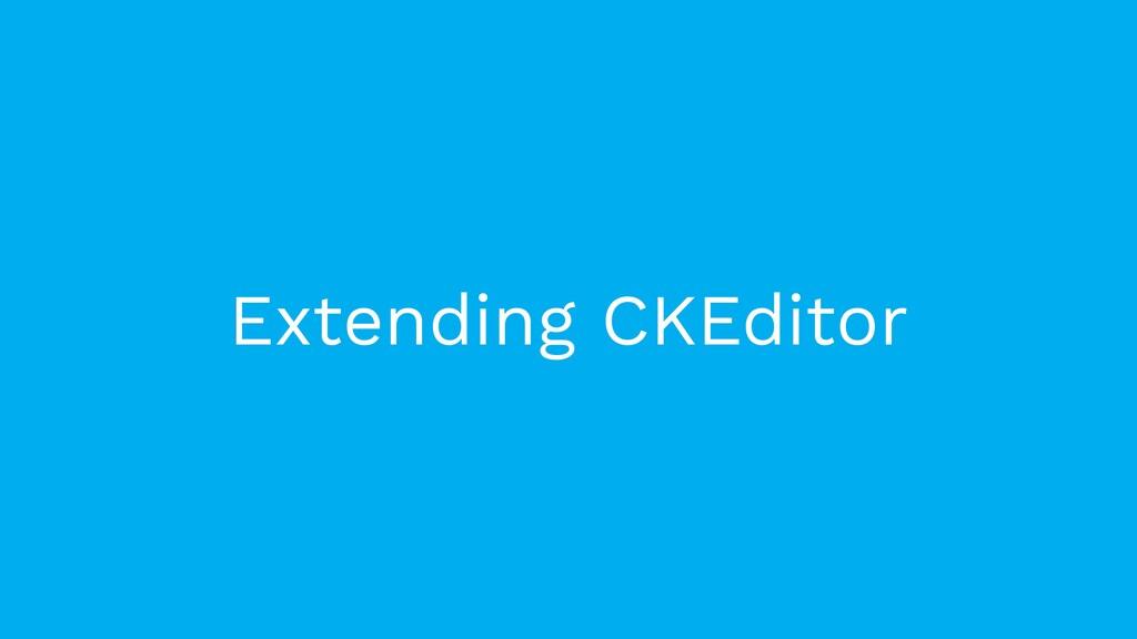 Extending CKEditor