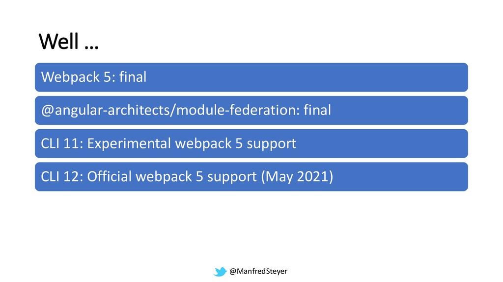 @ManfredSteyer Well … Webpack 5: final @angular...
