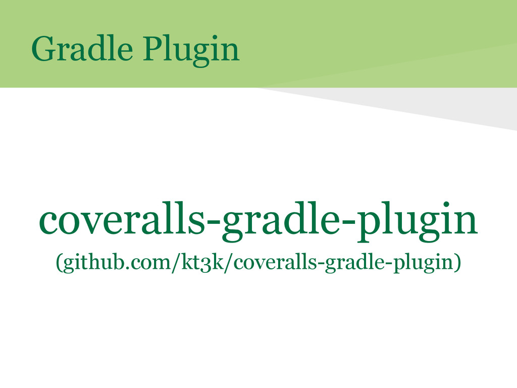 Gradle Plugin coveralls-gradle-plugin (github.c...