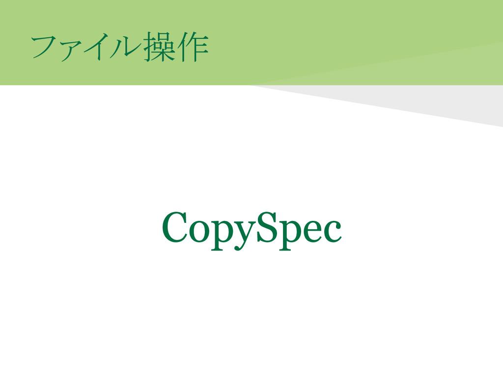 ファイル操作 CopySpec