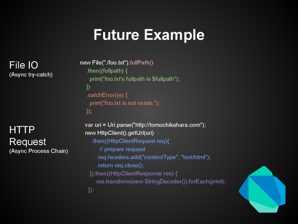 "Future Example new File(""./foo.txt"").fullPath()..."
