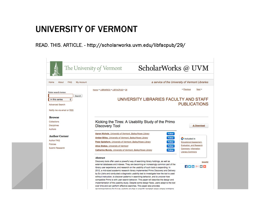 UNIVERSITY OF VERMONT READ. THIS. ARTICLE. - ht...