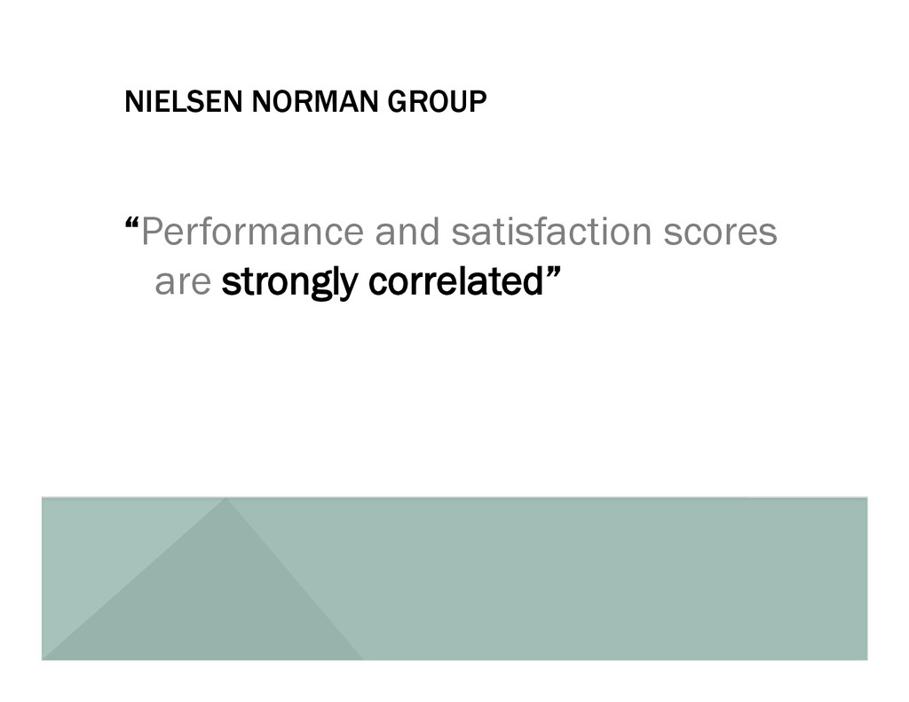 "NIELSEN NORMAN GROUP ""Performance and satisfact..."