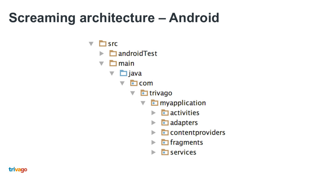 Screaming architecture – Android