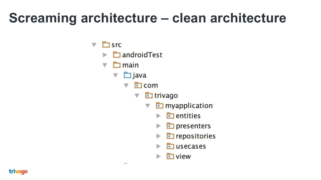 Screaming architecture – clean architecture