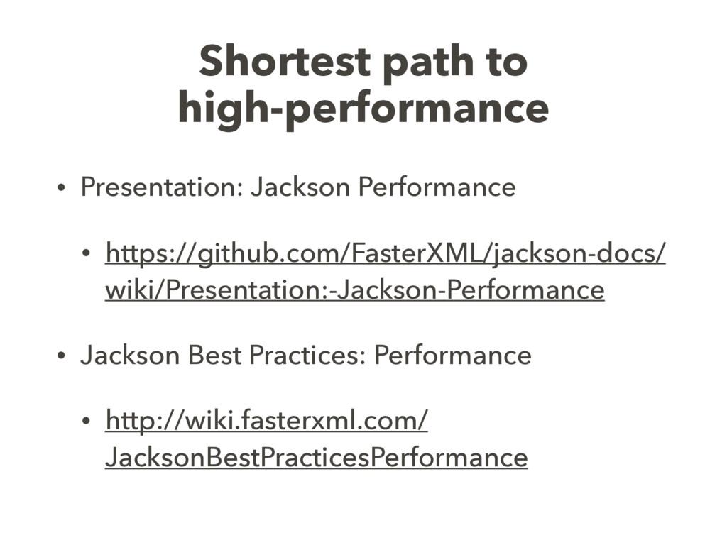 Shortest path to high-performance • Presentatio...