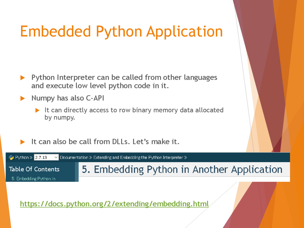 Embedded Python Application  Python Interprete...