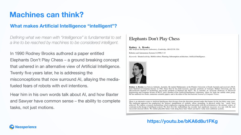 """What makes Artificial Intelligence """"intelligent""""..."""
