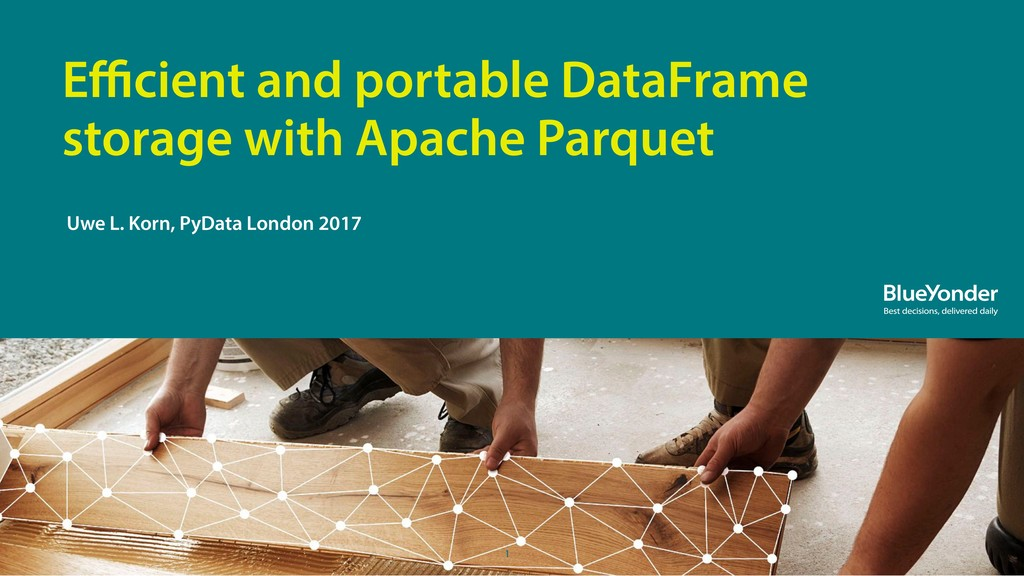 1 Efficient and portable DataFrame storage with A...
