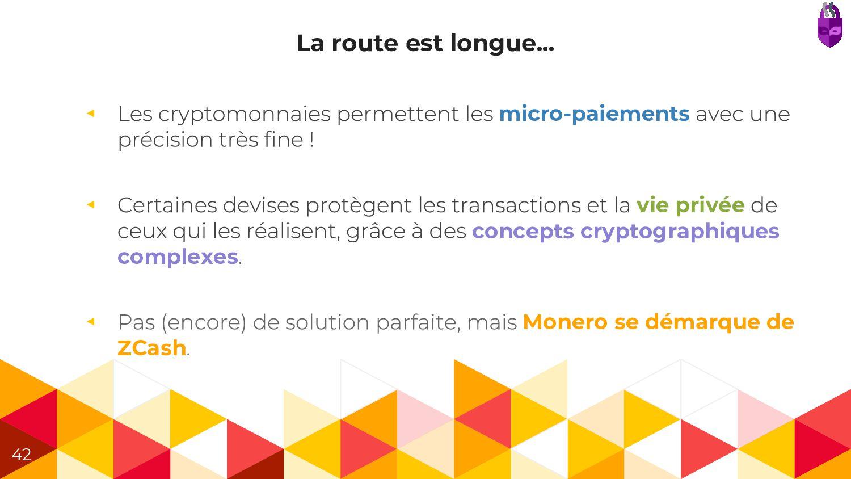 La route est longue... ◂ micro-paiements ◂ vie ...