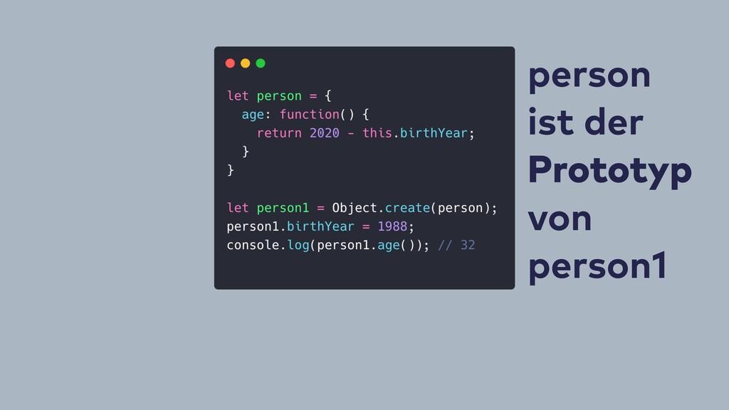person ist der Prototyp von person1