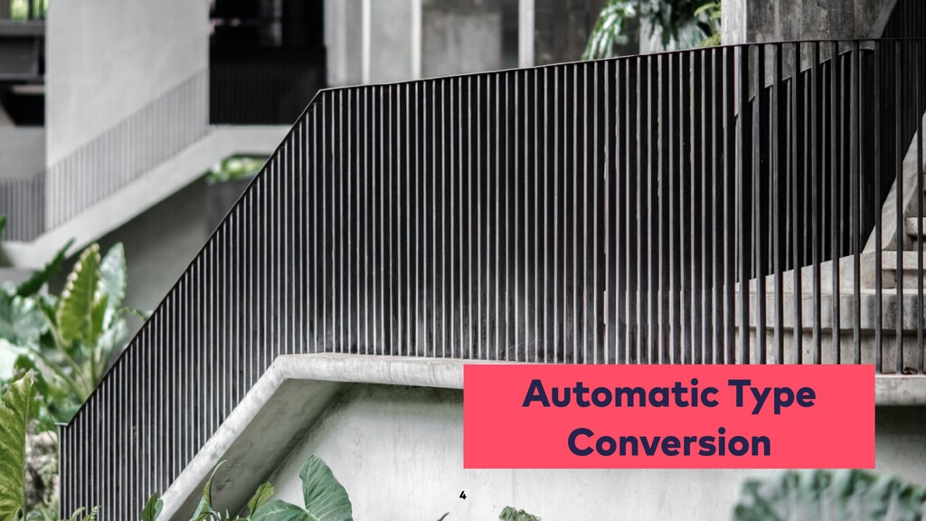 Automatic Type Conversion 4