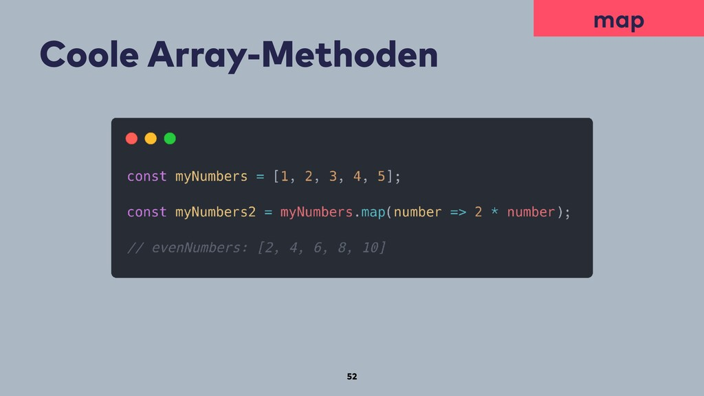 52 Coole Array-Methoden map