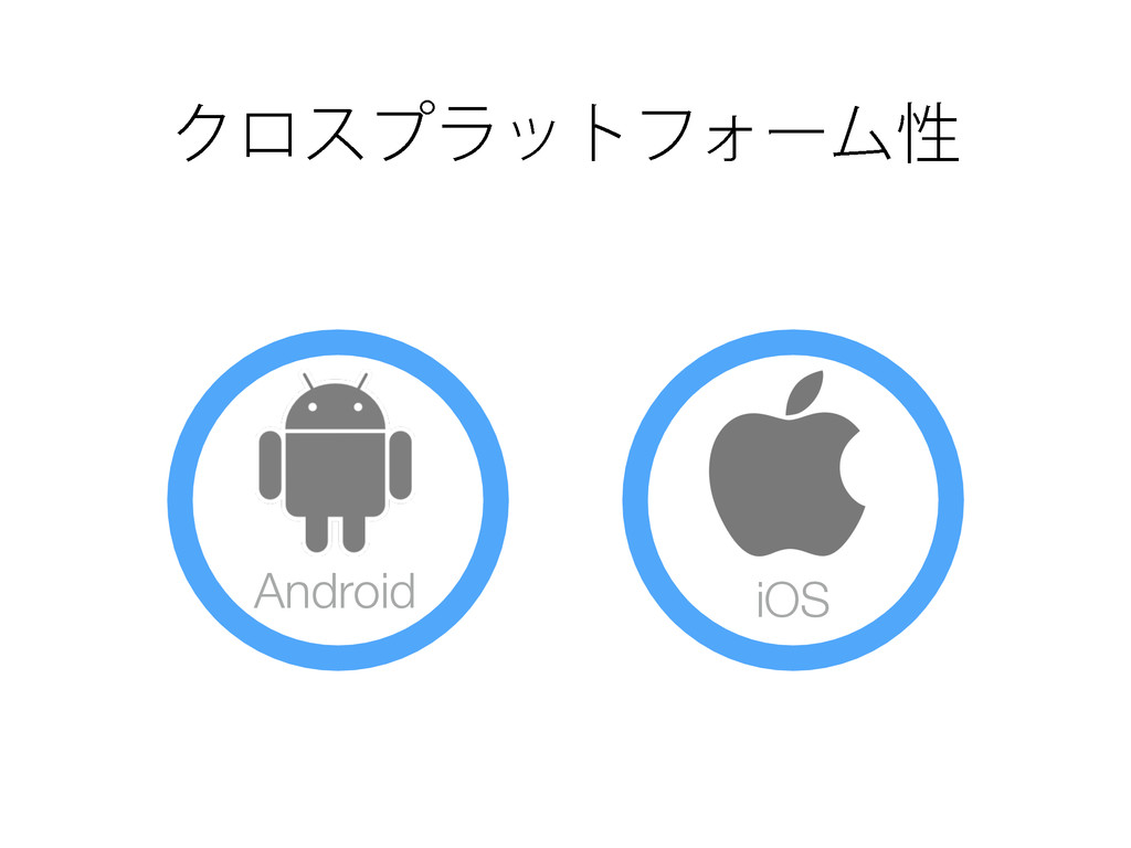 ΫϩεϓϥοτϑΥʔϜੑ Android iOS