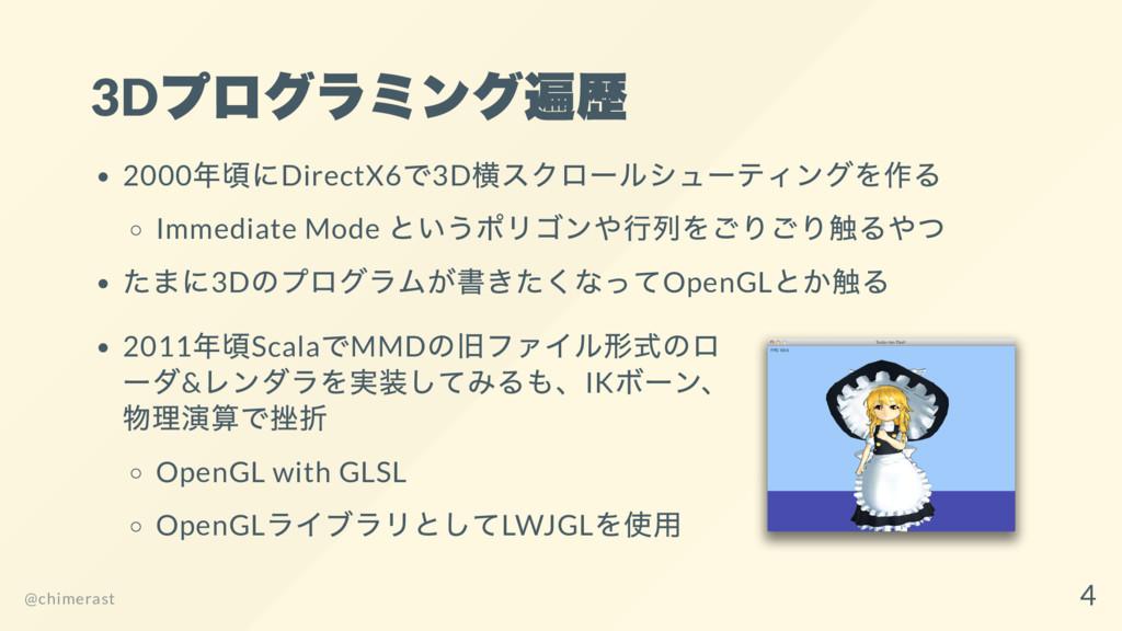3D プログラミング遍歴 2000 年頃にDirectX6 で3D 横スクロー ルシュー ティ...