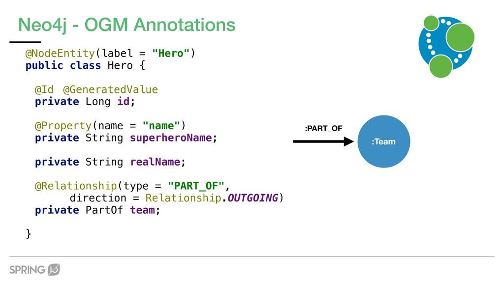 "Neo4j - OGM Annotations @NodeEntity(label = ""He..."