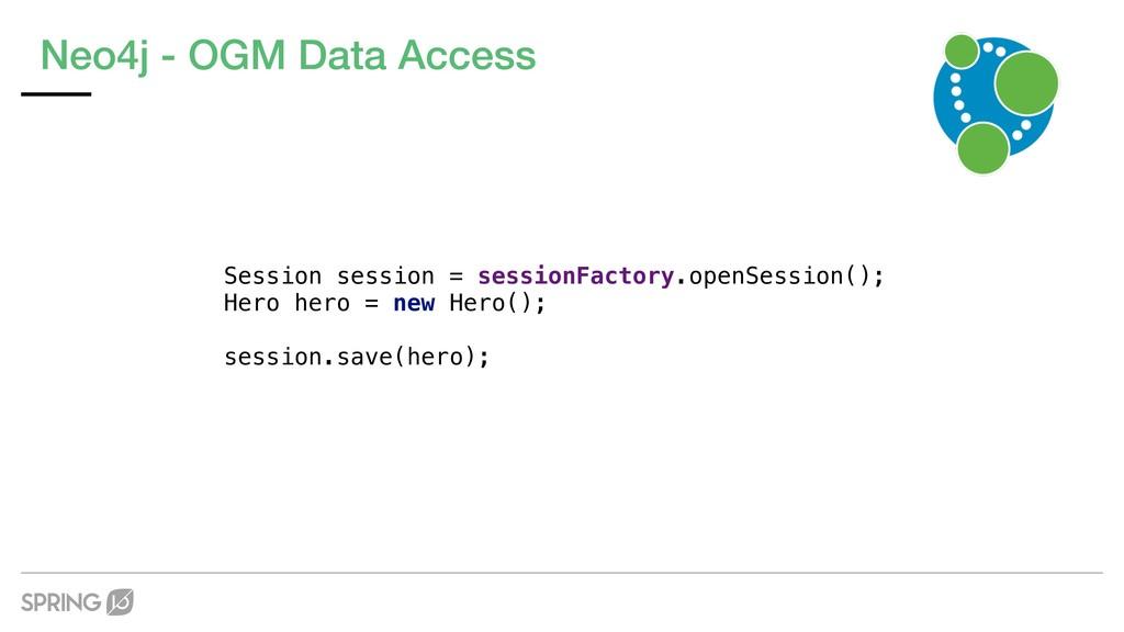 Neo4j - OGM Data Access Session session = sessi...