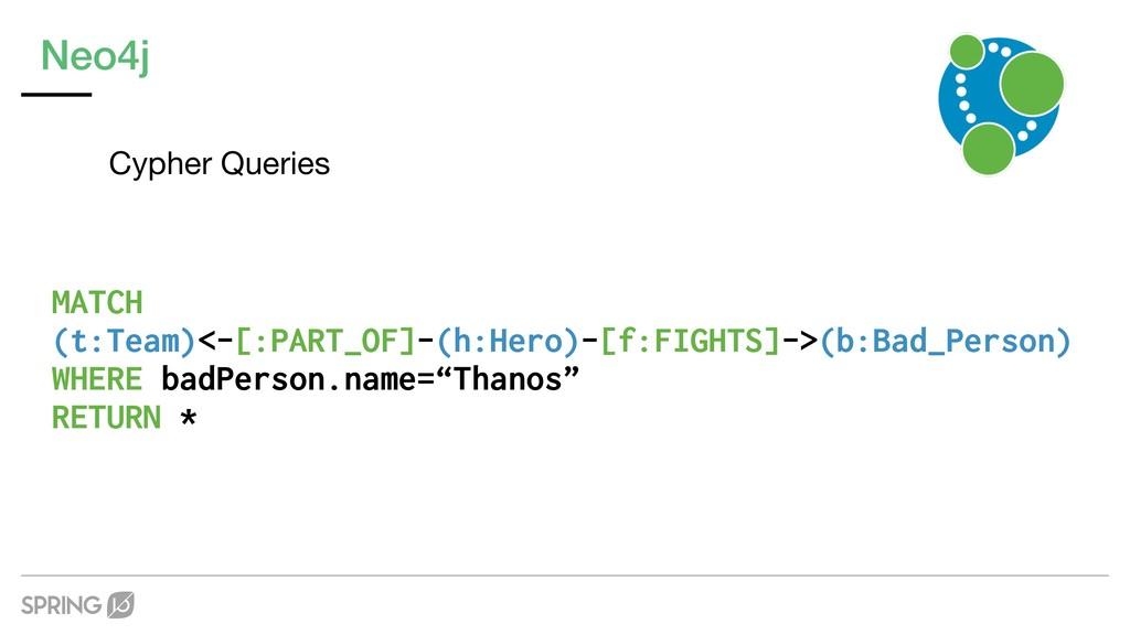 Neo4j Cypher Queries MATCH  (t:Team)<-[:PART_O...