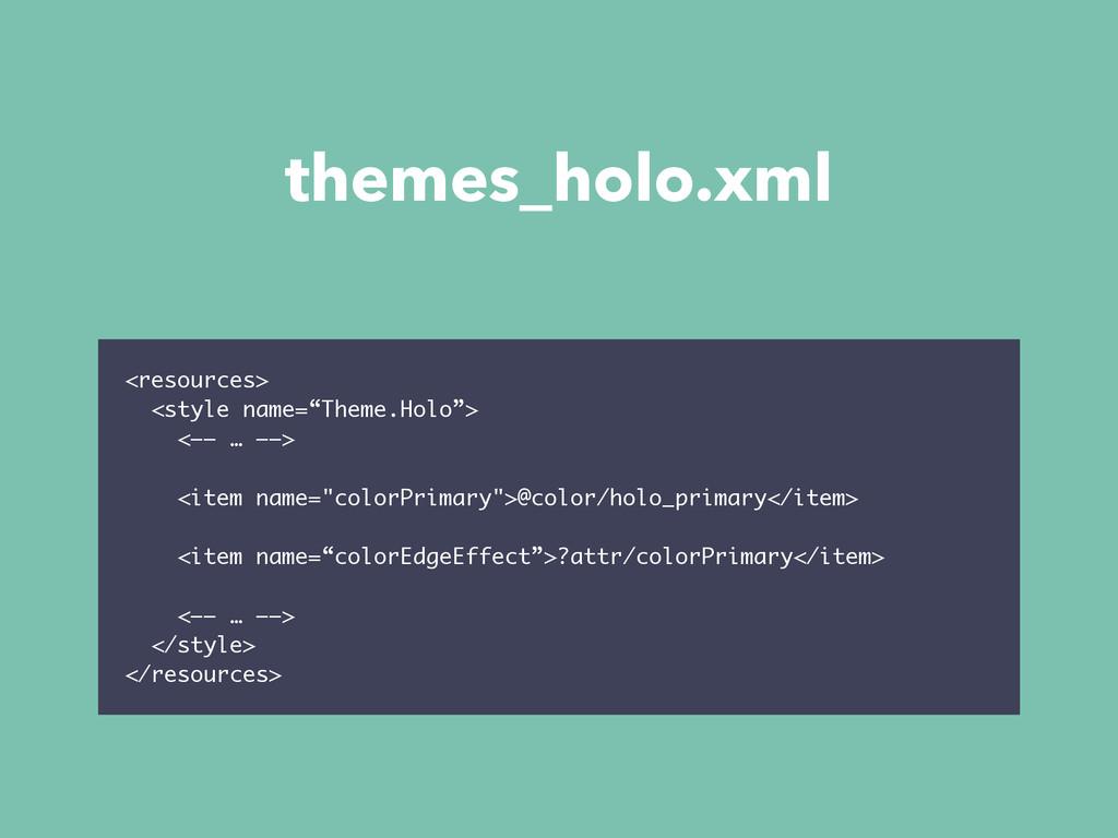 """themes_holo.xml <resources> <style name=""""Theme...."""