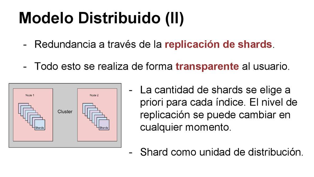 Modelo Distribuido (II) - Redundancia a través ...