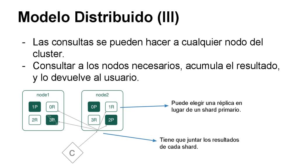 Modelo Distribuido (III) - Las consultas se pue...