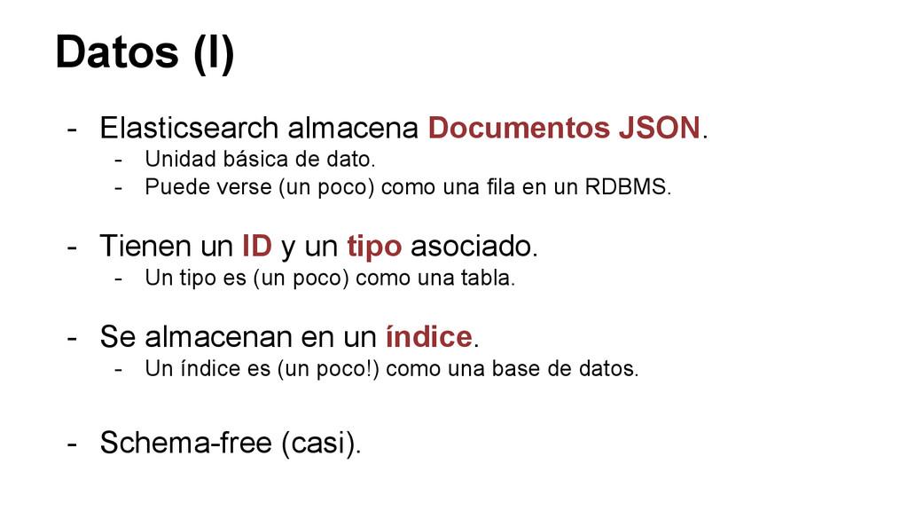 Datos (I) - Elasticsearch almacena Documentos J...