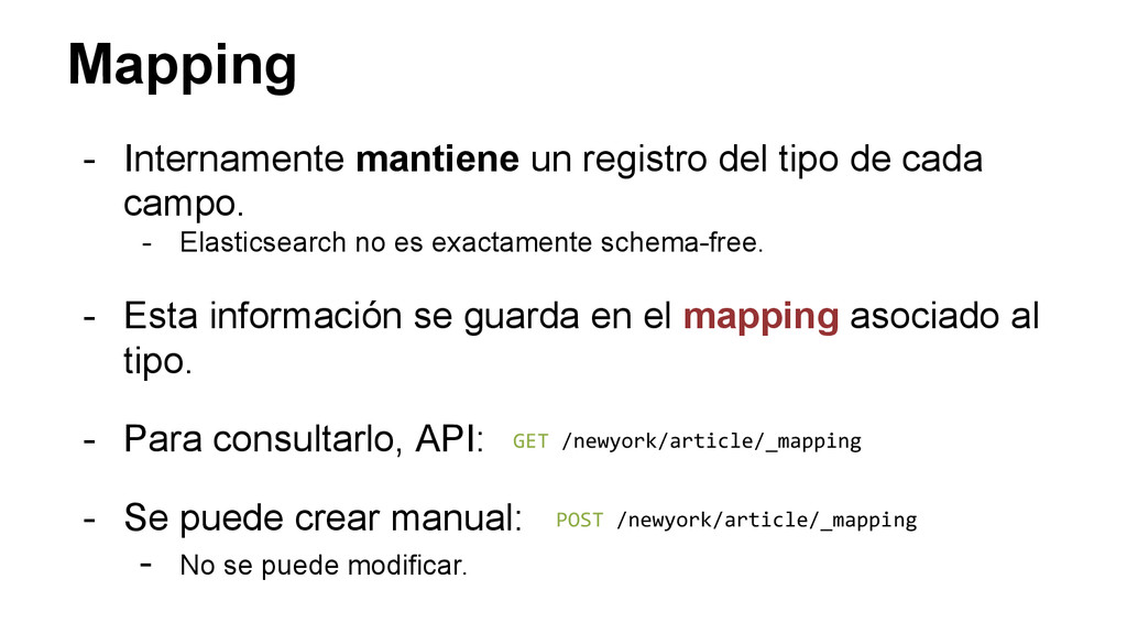 Mapping - Internamente mantiene un registro del...