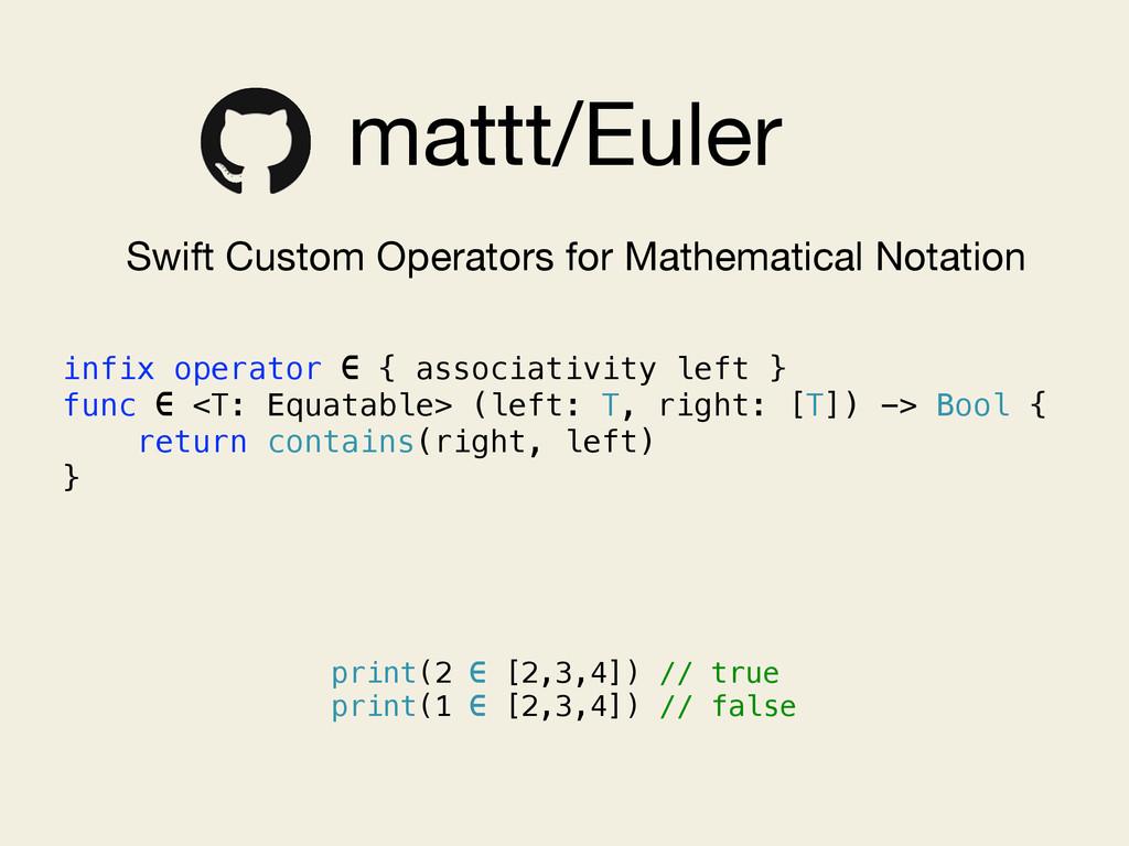 mattt/Euler Swift Custom Operators for Mathemat...