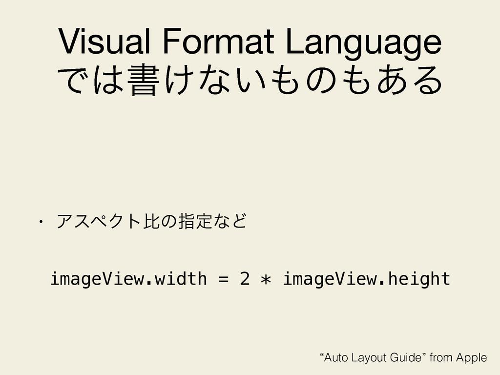 Visual Format Language  Ͱॻ͚ͳ͍ͷ͋Δ • ΞεϖΫτൺͷࢦఆ...