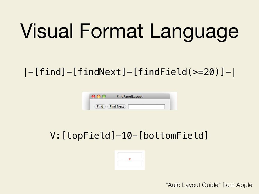 Visual Format Language |-[find]-[findNext]-[fin...