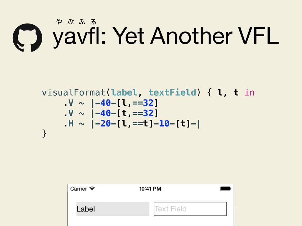yavfl: Yet Another VFL visualFormat(label, textF...