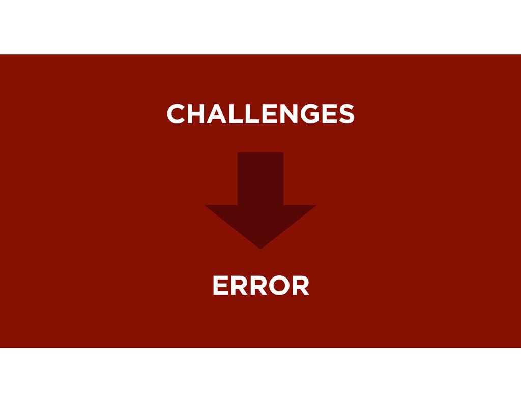 CHALLENGES ERROR