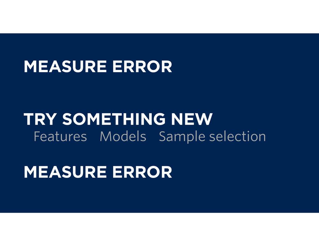 MEASURE ERROR TRY SOMETHING NEW MEASURE ERROR F...