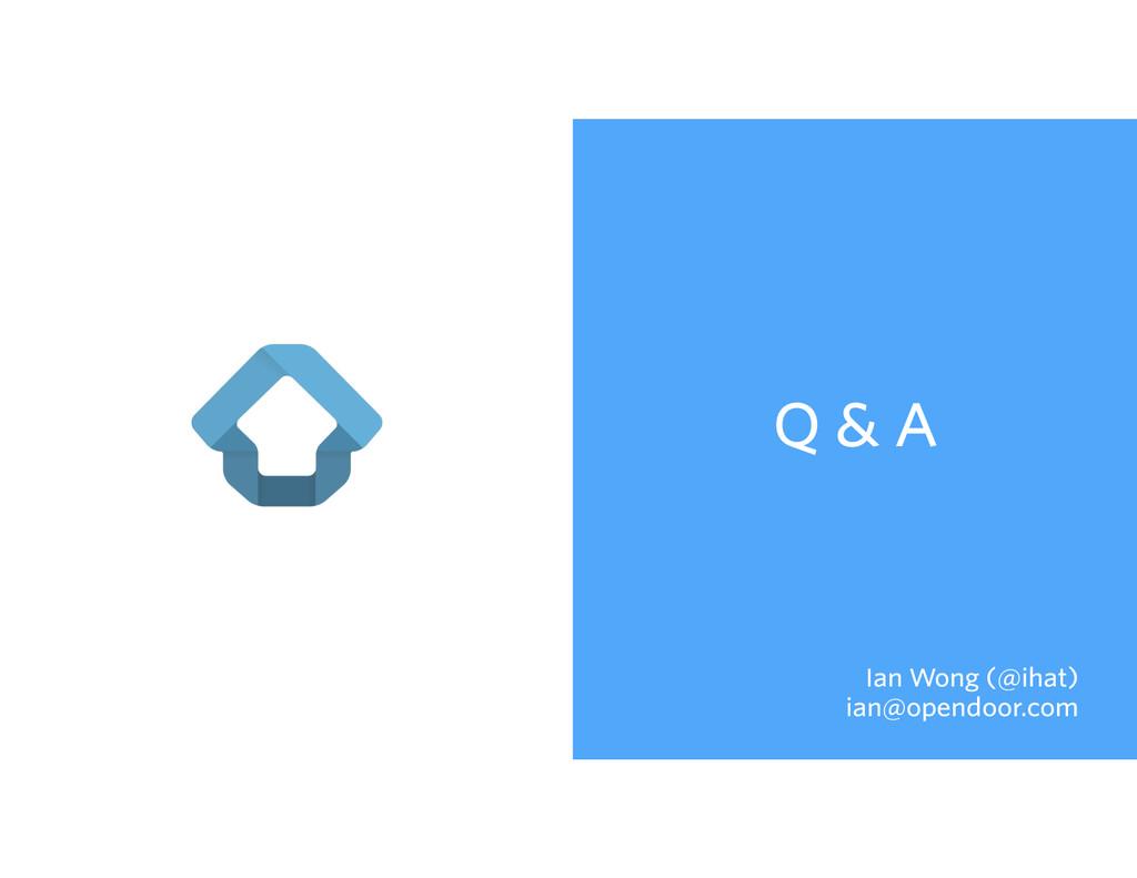 Q & A Ian Wong (@ihat) ian@opendoor.com
