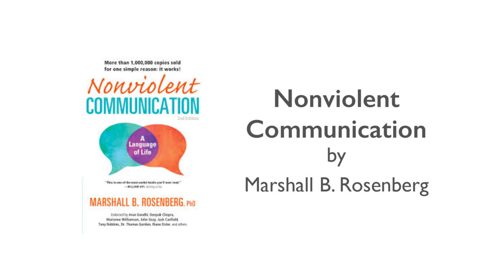 Nonviolent Communication Marshall B. Rosenberg ...