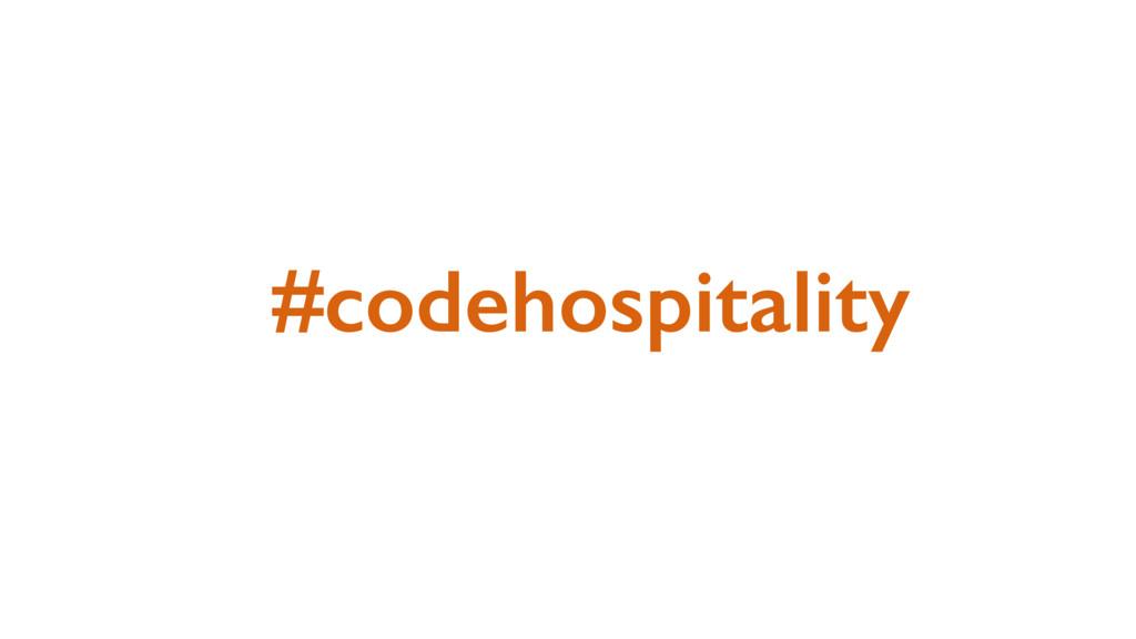 #codehospitality