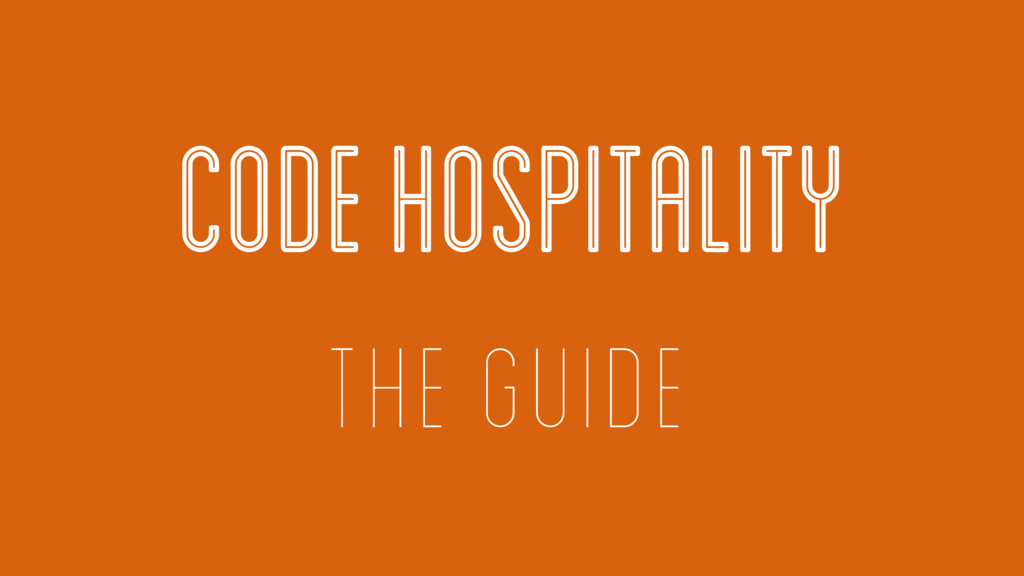 CODE HOSPITALITY THE GUIDE