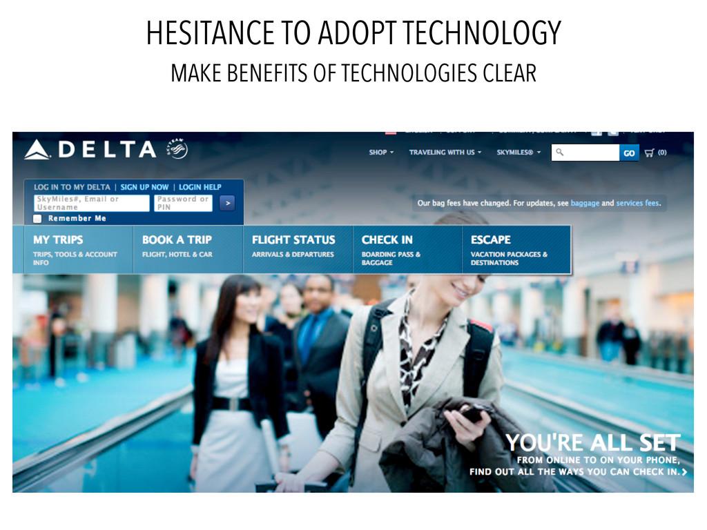 HESITANCE TO ADOPT TECHNOLOGY MAKE BENEFITS OF ...