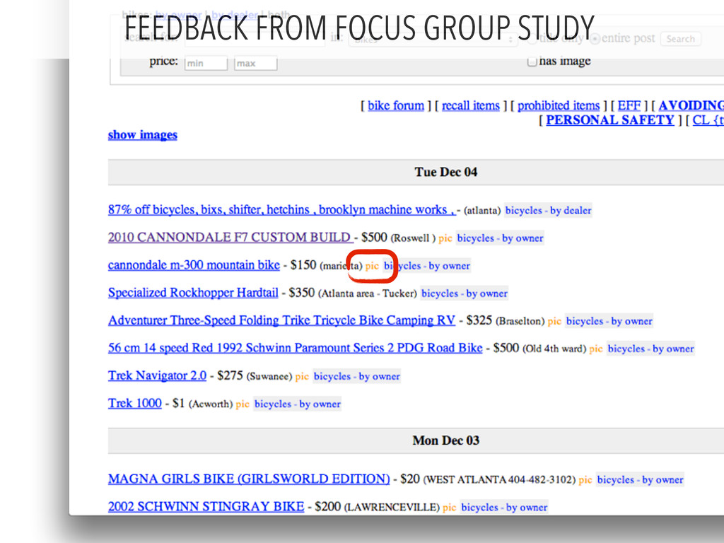 FEEDBACK FROM FOCUS GROUP STUDY