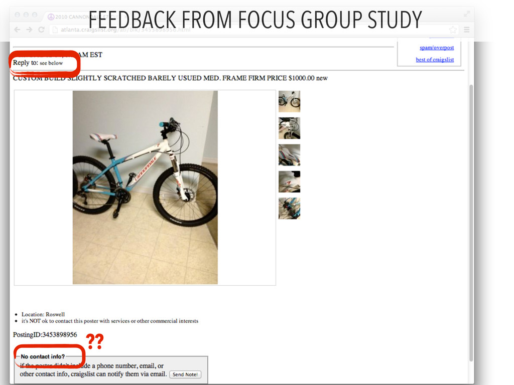 ?? FEEDBACK FROM FOCUS GROUP STUDY