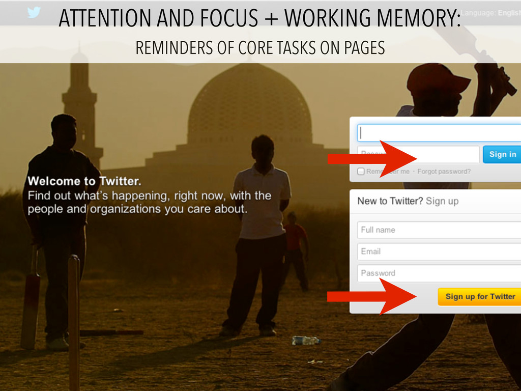 ATTENTION AND FOCUS + WORKING MEMORY: REMINDERS...