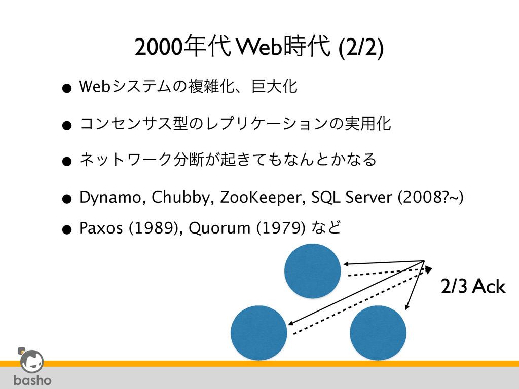 2000 Web (2/2) • WebγεςϜͷෳԽɺڊେԽ • ίϯηϯαεܕͷ...