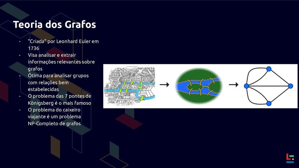 """Teoria dos Grafos - """"Criada"""" por Leonhard Euler..."""