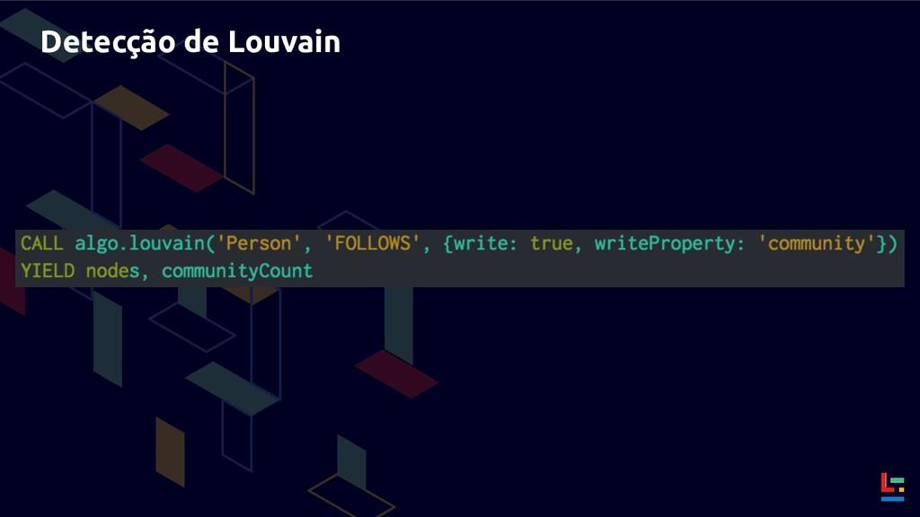 Detecção de Louvain