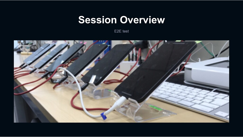 Session Overview E2E test